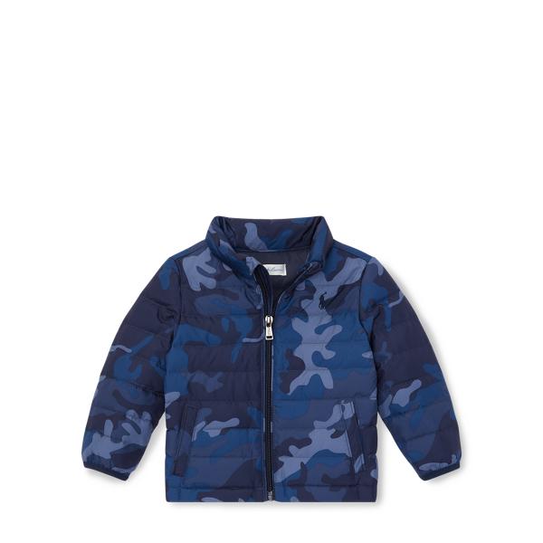 Ralph Lauren Packable Camo Down Jacket Navy Camo 24M