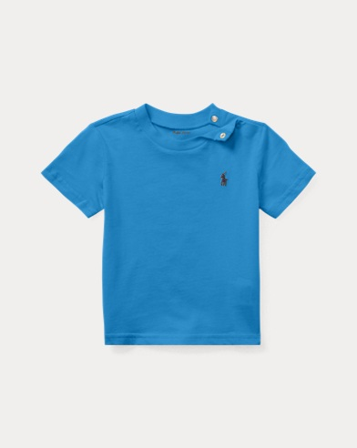 T-shirt col rond en jersey de coton