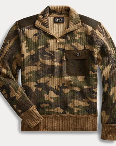 Camo Wool-Cashmere Sweater