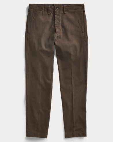 Wool-Blend Officer's Chino