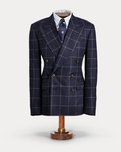 Windowpane Flannel Suit Jacket