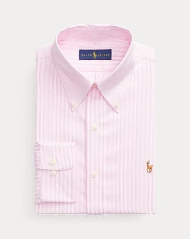폴로 랄프로렌 Polo Ralph Lauren Custom Fit Striped Shirt,Pink/White