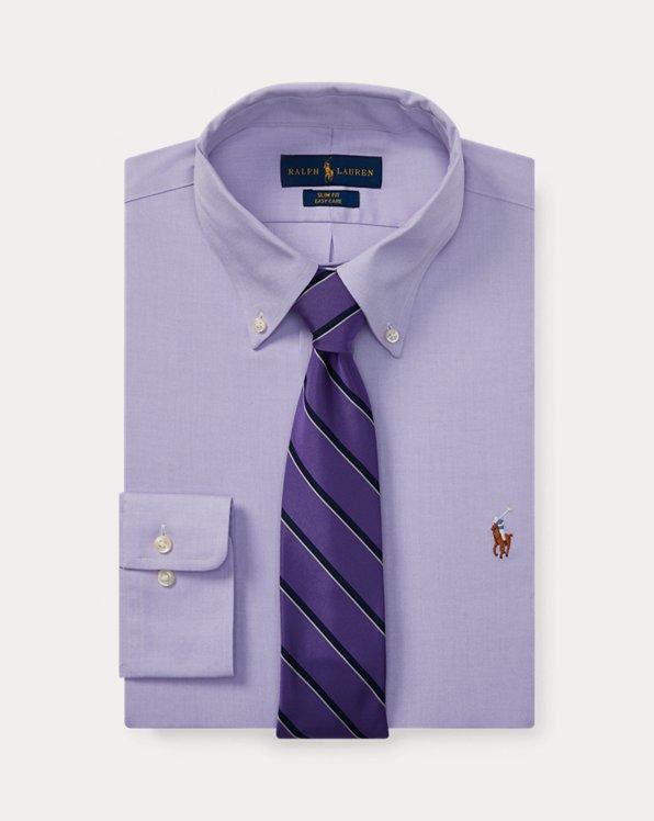폴로 랄프로렌 셔츠 (슬림핏) Polo Ralph Lauren Slim Fit Easy Care Oxford Shirt,Light Purple/White