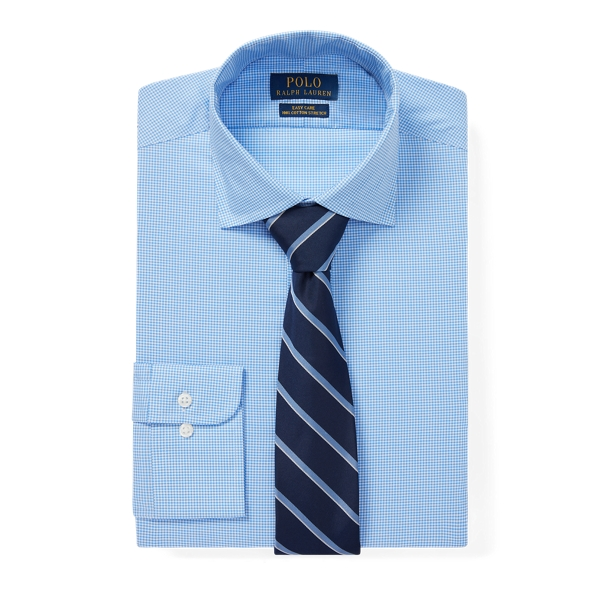 Ralph Lauren Slim Fit Easy Care Shirt Mini Blue/White 15