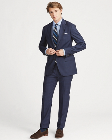 Polo Plaid Wool Twill Suit