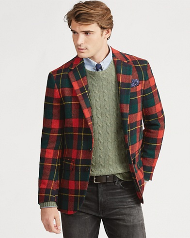 Morgan Tartan Wool Sport Coatc