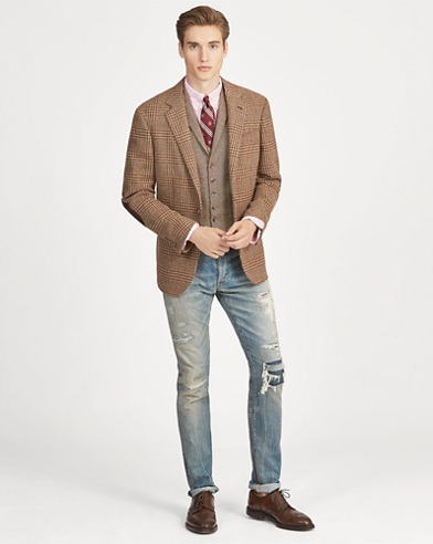 Polo Plaid Tweed Sport Coat