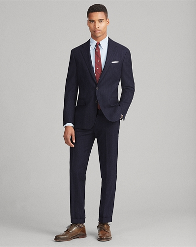 Polo Pinstripe Wool Twill Suit