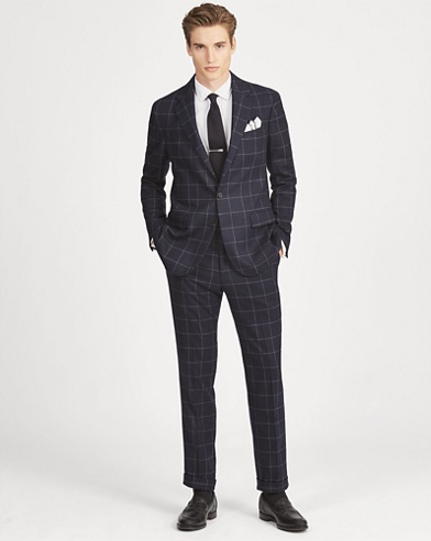Polo Windowpane Wool Suit