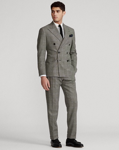 Polo Glen Plaid Twill Suit