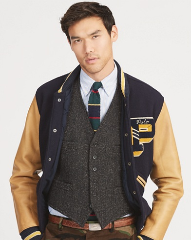 Polo Wool Herringbone Vest