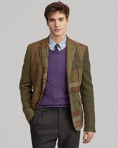 Patchwork Tweed Sport Coat