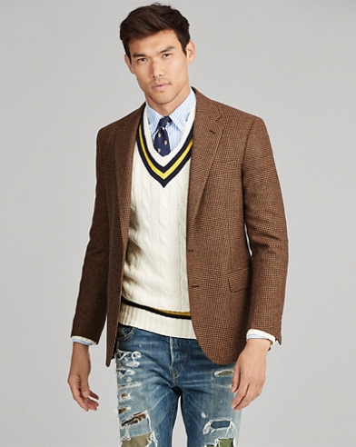 Polo Houndstooth Suit Jacket