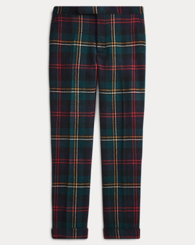 Polo Plaid Wool Twill Trouser