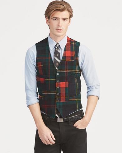 Patchwork Tartan Wool Vest