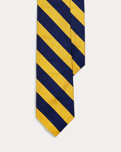 Striped Silk Twill Narrow Tie