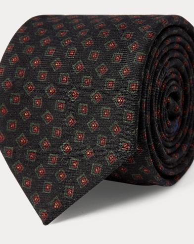 Neat Wool Challis Narrow Tie