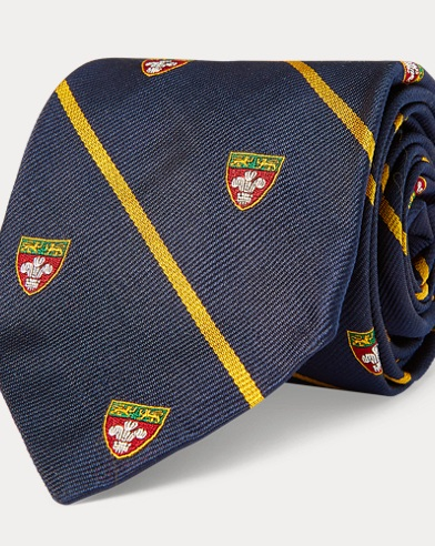 Striped Silk Narrow Club Tie