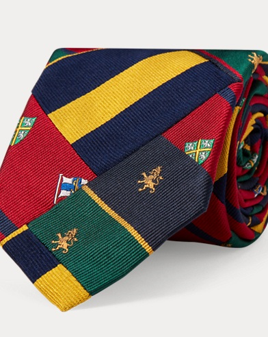 Patchwork Silk Narrow Club Tie