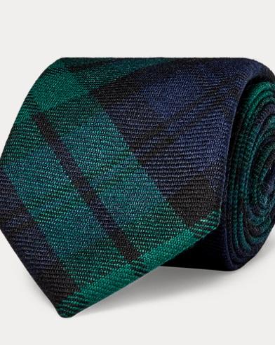 Tartan Wool Narrow Tie