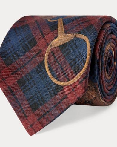 Tartan Horse Silk Narrow Tie