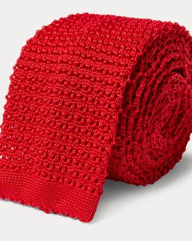 Cravate en maille de soie
