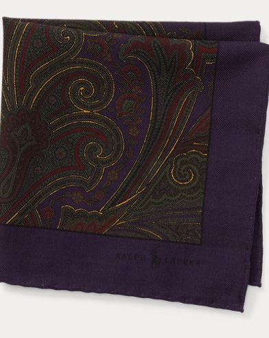 Paisley Wool Pocket Square
