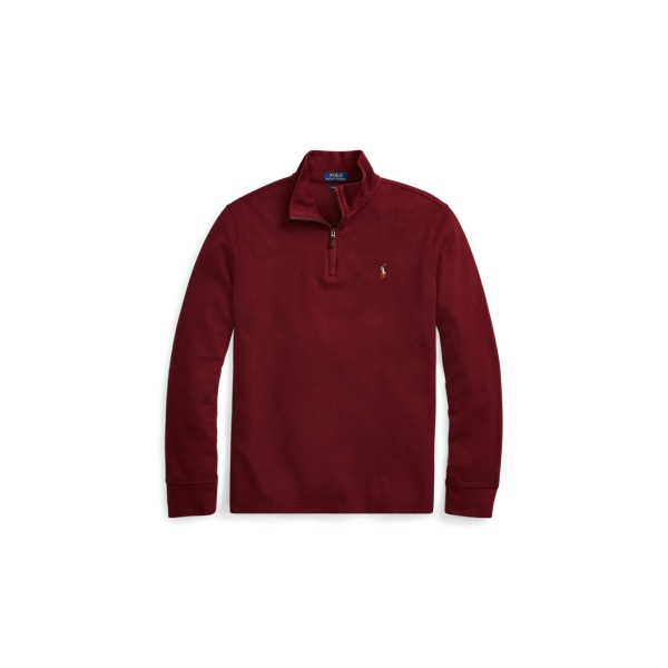 Ralph Lauren Estate-Rib Cotton Pullover Classic Wine S