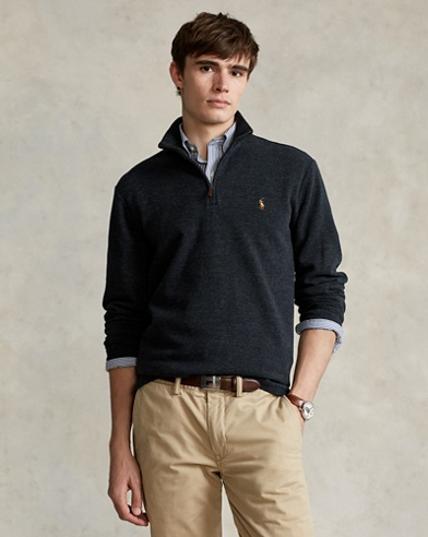 Estate-Rib Cotton Pullover