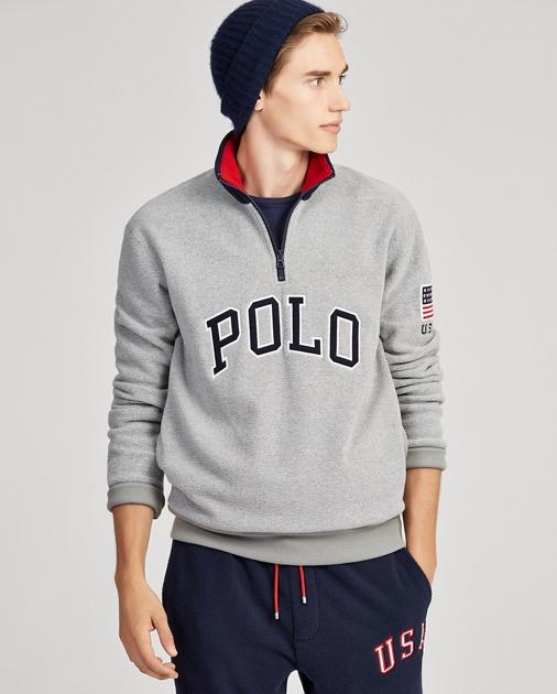 Polo Ralph Lauren Cotton-Blend-Fleece Pullover