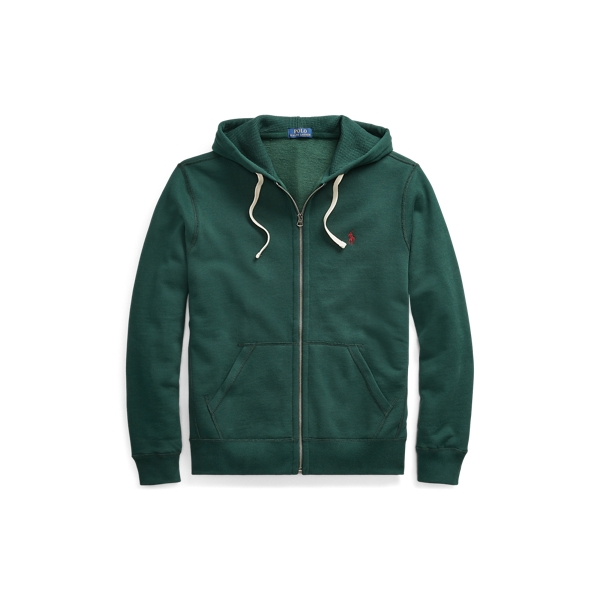 Ralph Lauren Cotton-Blend-Fleece Hoodie College Green Xs