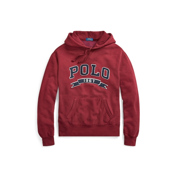 Ralph Lauren Cotton-Blend-Fleece Hoodie Classic Wine S