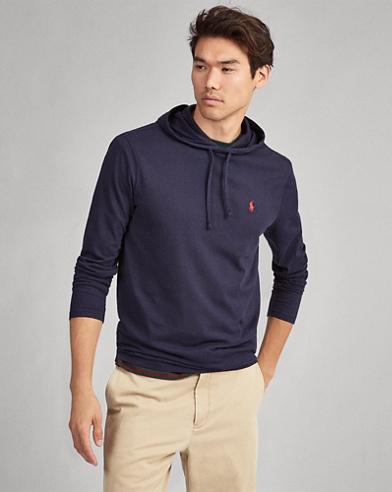 Kapuzen-T-Shirt aus Baumwolljersey