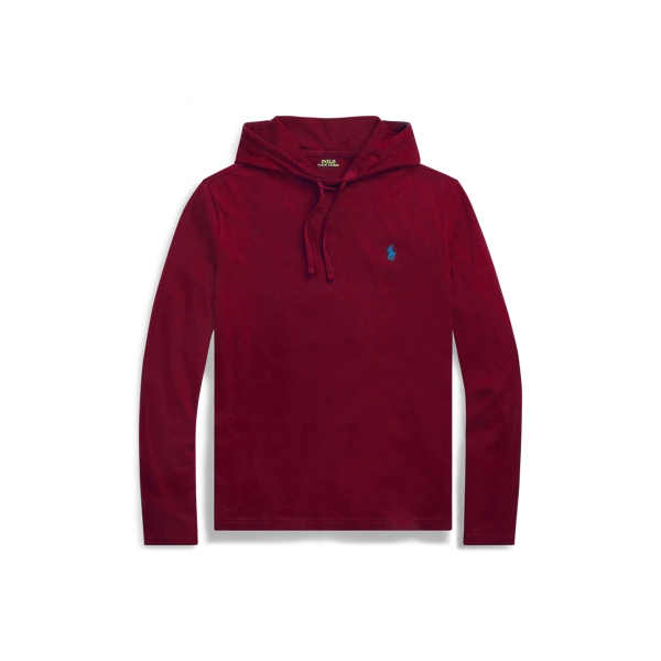 Ralph Lauren Cotton Jersey Hooded T-Shirt Classic Wine Xs