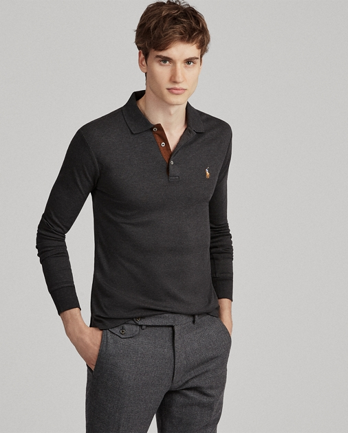 8658e5d6de44 Polo Ralph Lauren Slim Fit Long-Sleeve Polo 1