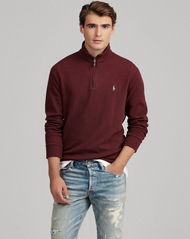Double-Knit Half-Zip Pullover