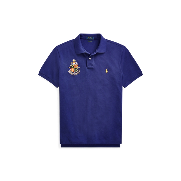 Ralph Lauren Custom Slim Fit Mesh Polo Fall Royal M
