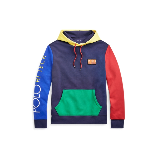 Ralph Lauren Hi Tech Color-Blocked Hoodie Cruise Navy Multi M