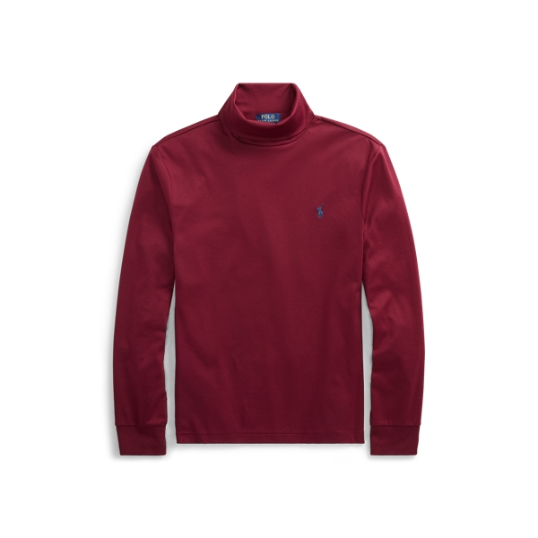 Ralph Lauren Soft-Touch Cotton Turtleneck Classic Wine S
