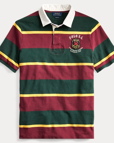 Classic Fit Mesh Rugby Shirt