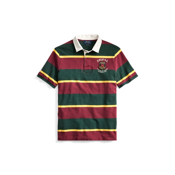 Ralph Lauren Classic Fit Mesh Rugby Shirt Classic Wine Multi S