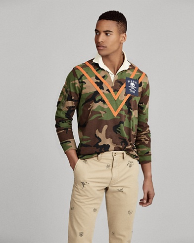 Classic Fit Camo Cotton Rugby