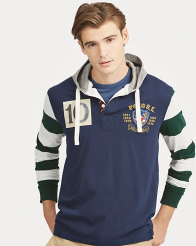 Classic Fit Rugby Hoodie