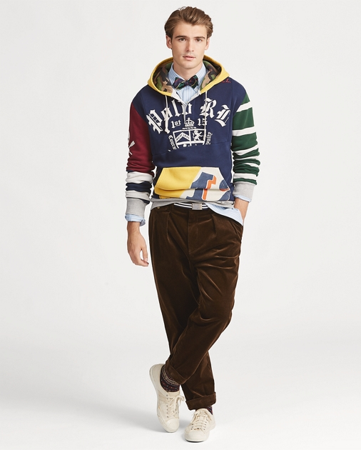 55cd73a10 Polo Ralph Lauren Patchwork Rugby Hoodie 1
