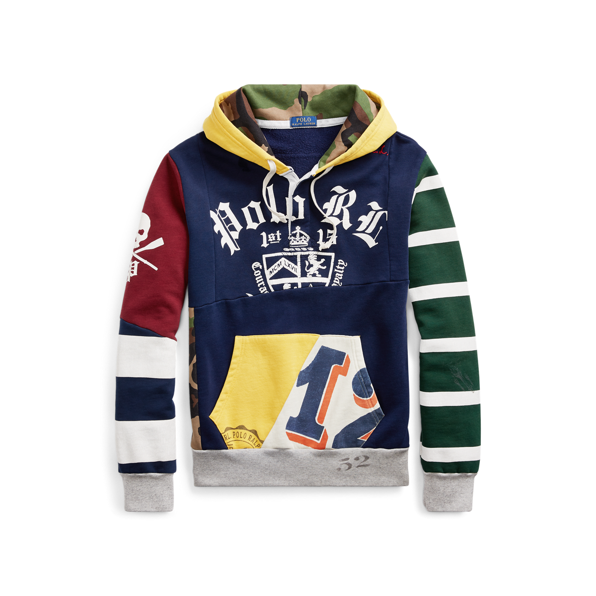 dc36bb770 Patchwork Rugby Hoodie