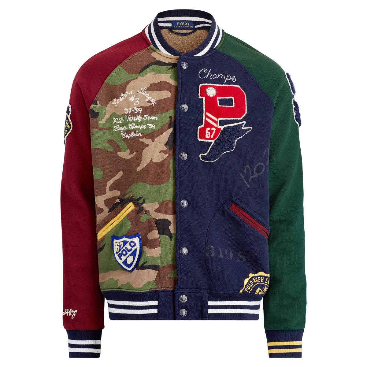Small 8 Ralph Lauren Polo Boys Pony Fleece Baseball Jacket