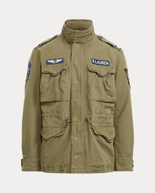 Veste militaire en sergé de coton a9d21e7609ff