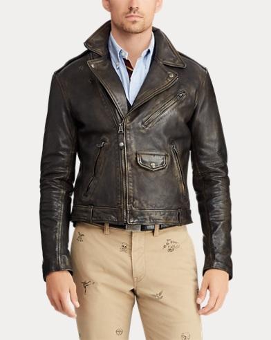 73672976f6721 Veste de moto en cuir. 50% de remise sur certaines couleurs. Polo Ralph  Lauren