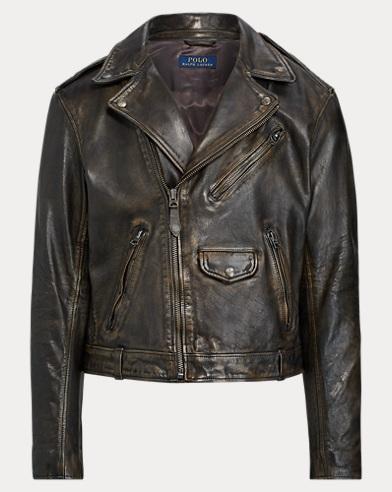 03c9d9666 Leather Biker Jacket. Polo Ralph Lauren