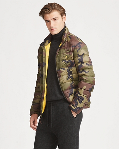 Camo Packable Down Coat